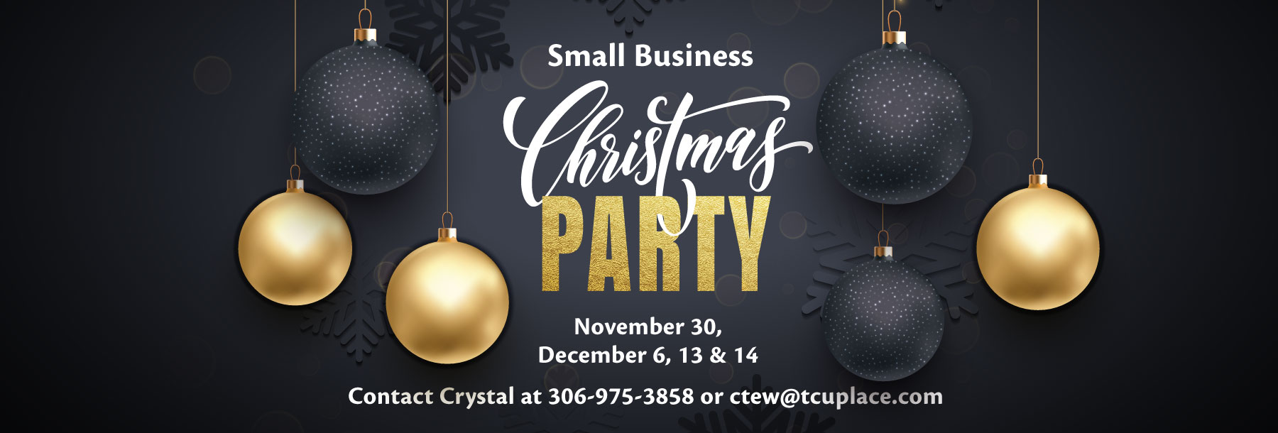 Book Your Small Business Christmas Party - November 30, December 6, 13, & 14