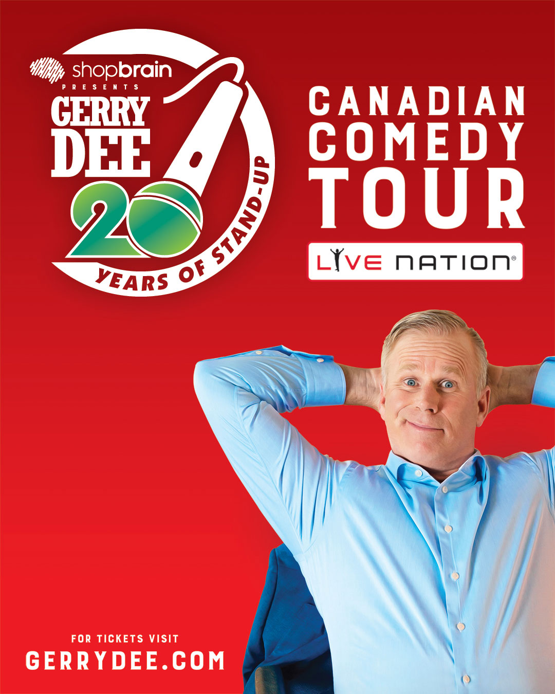 Gerry Dee 20 Years of Standup Tour